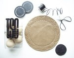 DIY leather doily