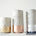 DIY CONCRETE VOTIVES