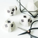 DIY concrete paperweights
