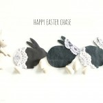 Easter decor – DIY lace bunny