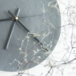 DIY leather wall clock