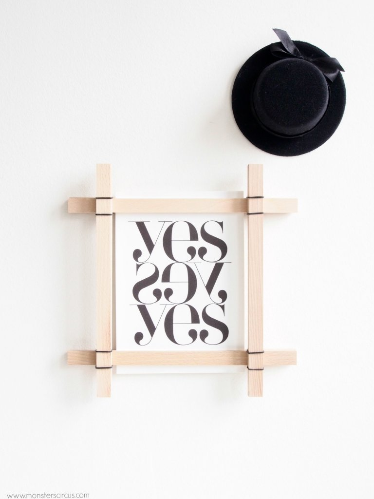 DIY paint stick frame