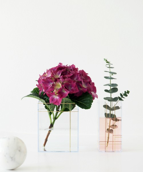 DIY Grid Vases